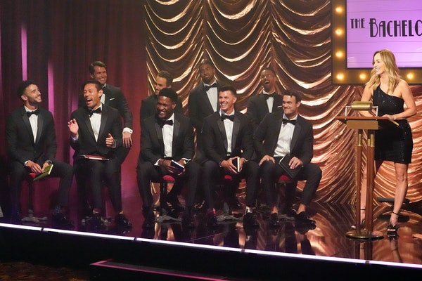 Clare and the men on 'The Bachelorette'