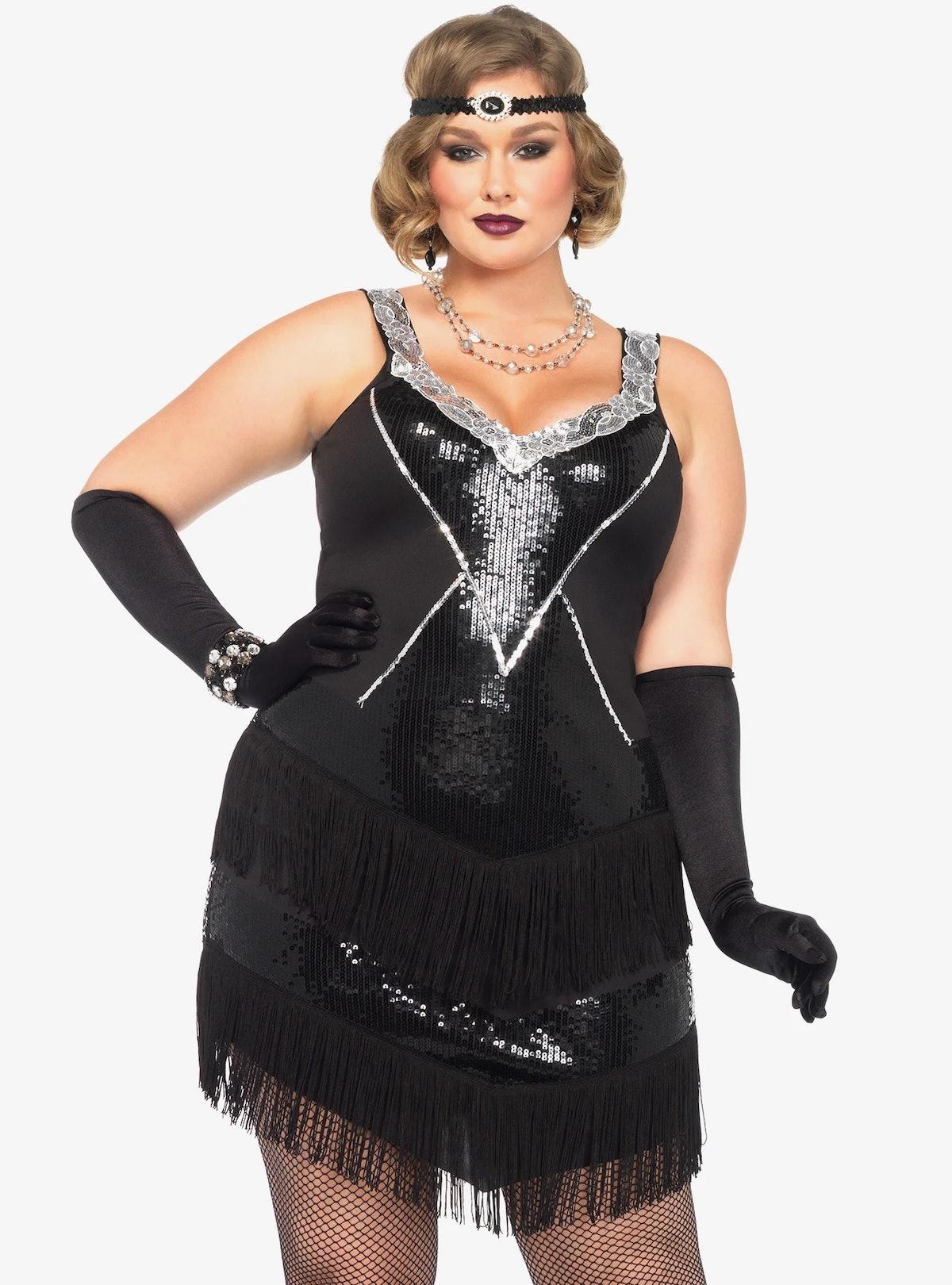 Hot Topic Glamour Flapper Dress Plus