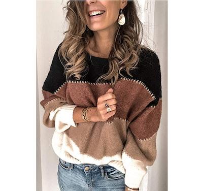 Angashion Patchwork Sweater