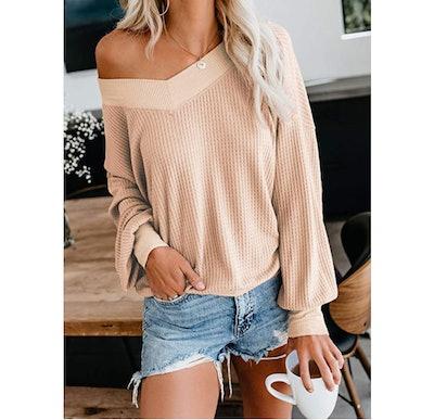 Asvivid Waffle Knit Sweater