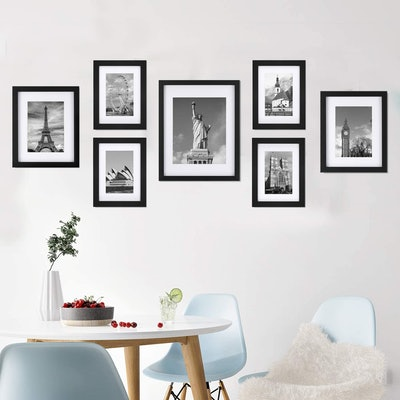 ONE WALL Tempered Glass Picture Frames (7-Pack)
