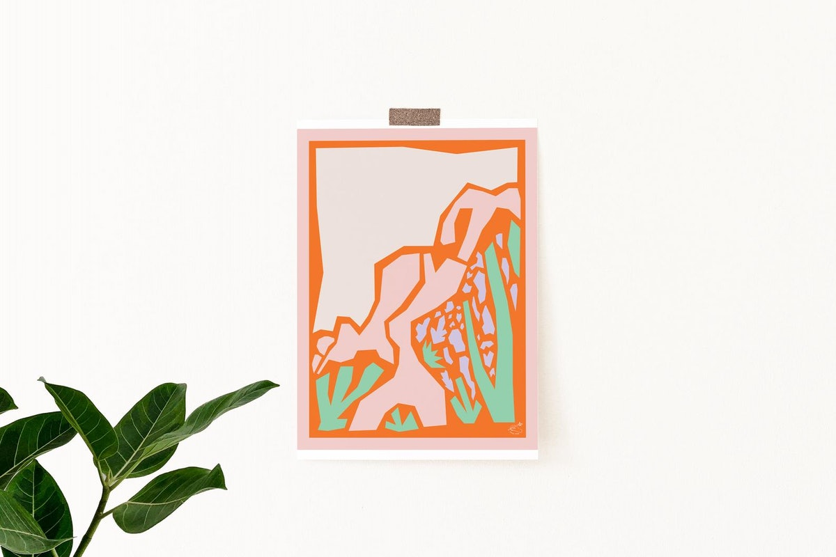 Abstract Desert Landscape Mountainside 3 Printable