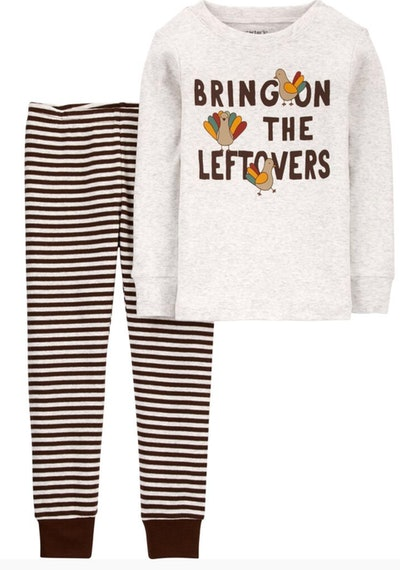 2-Piece Thanksgiving 100% Snug Fit Cotton PJs