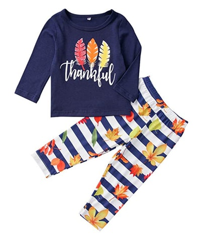 Thanksgiving Pajamas Set