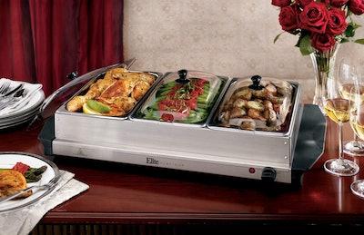 Elite Gourmet Elite Platinum Maxi-Matic Triple Buffet Server