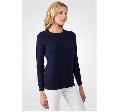 JENNIE LIU Cashmere Crewneck Sweater