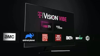 TVision vibe is a new live TV streaming service from T-Mobile.