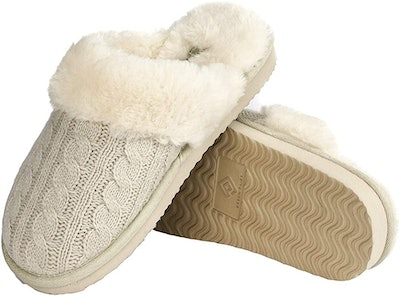 DREAM PAIRS Knit Faux Slippers