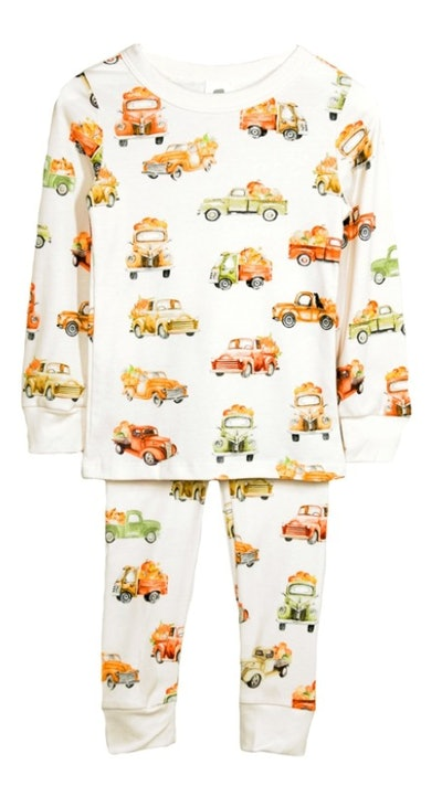 Long John Pajama Set - Pumpkin Trucks