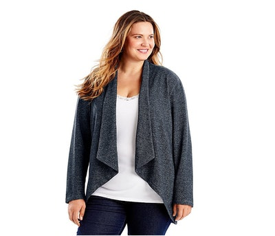 Just My Size French Terry Flyaway Cardigan