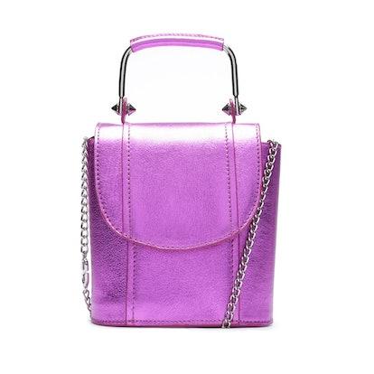 Crush Metallic Leather Bag