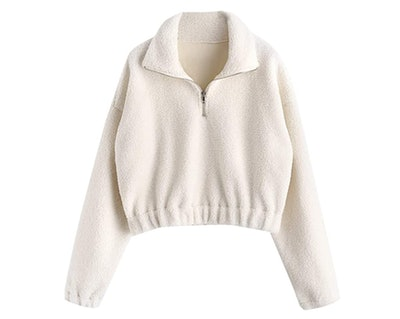 ZAFUL Half Zip Pullover Sweater