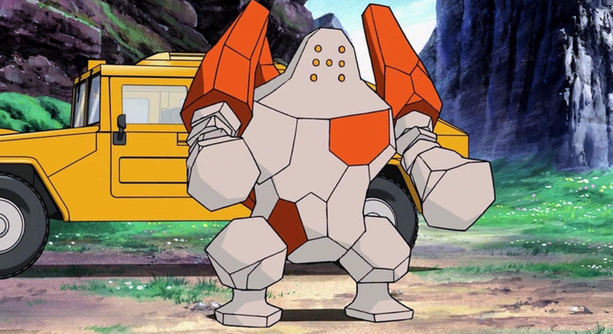 Legendary Pokémon Regirock anime Crown Tundra