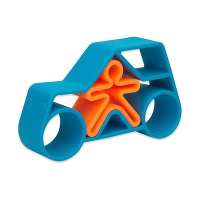 Neon Car & Kid Silicone Toy (0m+)