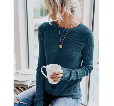 Yidarton Twist Knot Sweater