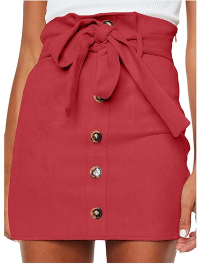 Meyeeka Paperbag High Waist Mini Skirt