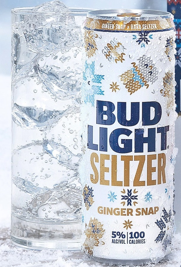 Bud Light Seltzer's new holiday flavors include offerings like Gingersnap.
