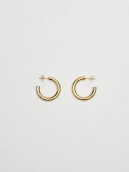 MINI GOLD HOLLOW HOOPS