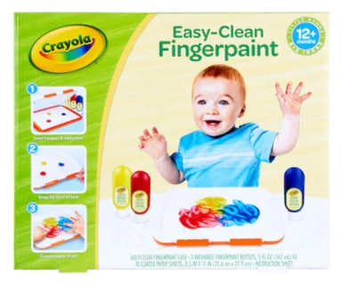 Crayola Easy Clean Finger Paint Set (12m+)