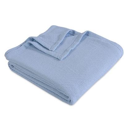 Berkshire Full/Queen Cotton Blanket in Blue