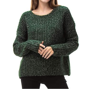 Woolen Bloom Oversized Long Sleeve Pullover