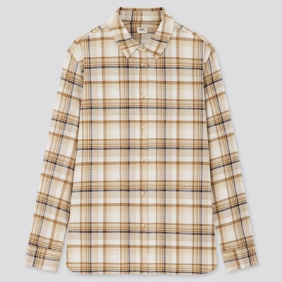 Uniqlo Flannel Checked Long-Sleeve Shirt