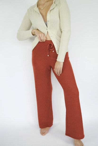 Sweater Cropped Flare Sweatpant