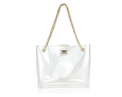 Hoxis Clear Chain Tote Bag