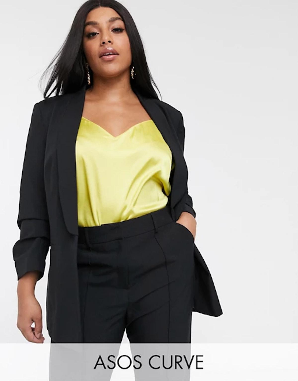 ASOS Design Curve Mix & Match Suit Blazer