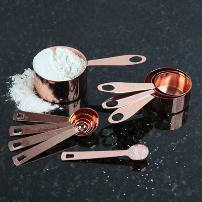Steelware Central Copper Measuring Cups and Spoons (9-Pieces)