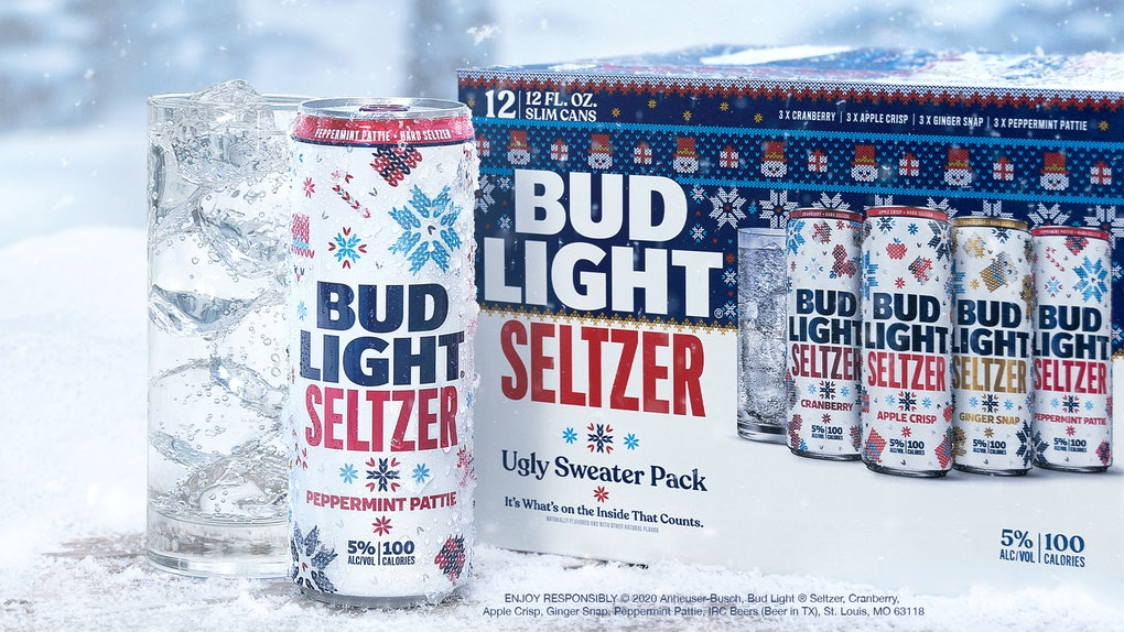 Bud Light Seltzer is launching a holiday pack for 2020, and it includes flavors like Peppermint Pattie.