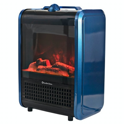 Comfort Zone Mini Electric Fireplace Spa