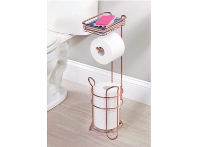 mDesign Metal Toilet Paper Roll Holder