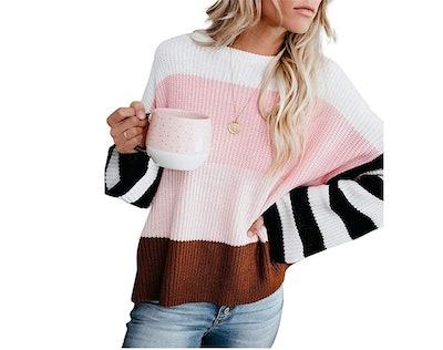 cordat Color Block Oversized Sweater