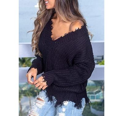 Eytino Ripped Sweater