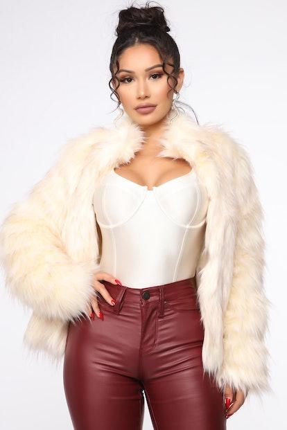 Fernanda Fur Coat Ivory