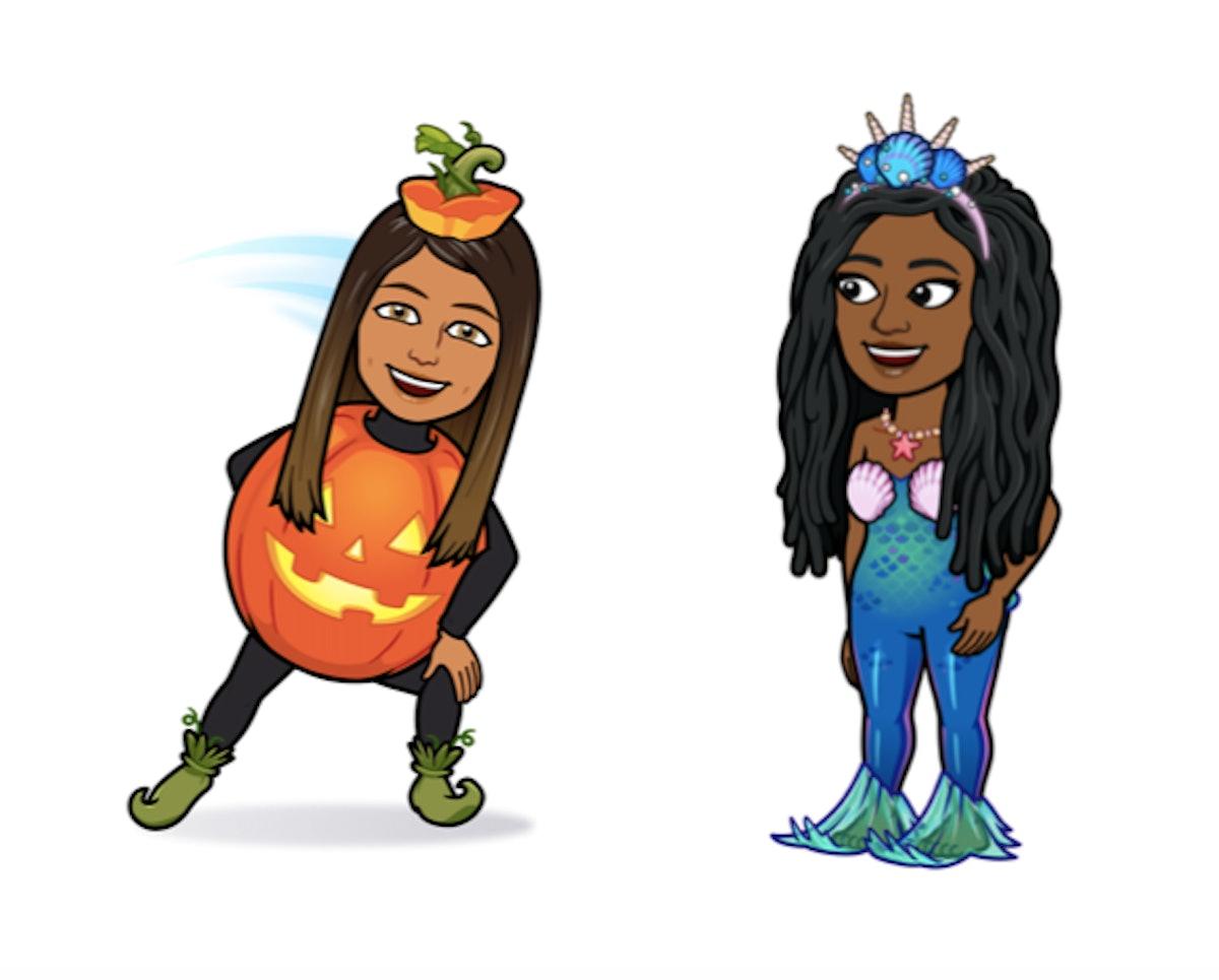 There are three new Halloween Bitmoji costumes on Snapchat.