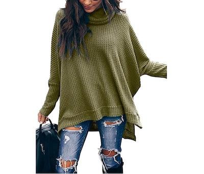 MILLCHIC Oversized Waffle Knit Pullover