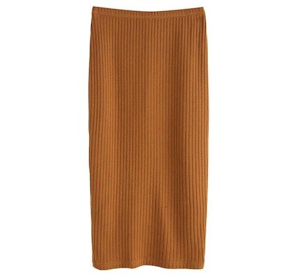 SheIn Ribbed Maxi Skirt