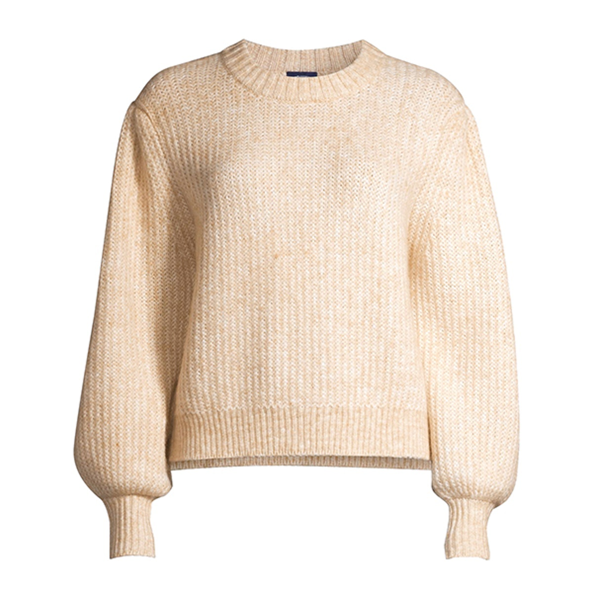Cropped Balloon Sleeve Sweater