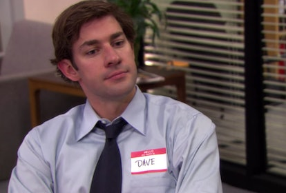 Jim as Dave on The Office via a screenshot