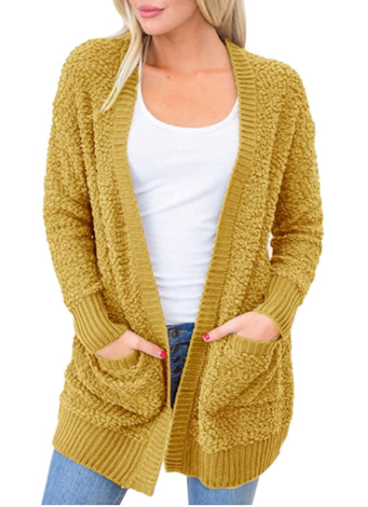 MEROKEETY Soft Chunky Cardigan with Pockets