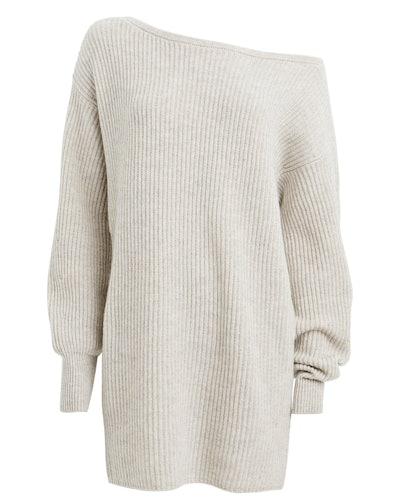 Intermix Jackie Wool-Cashmere Sweater Dress