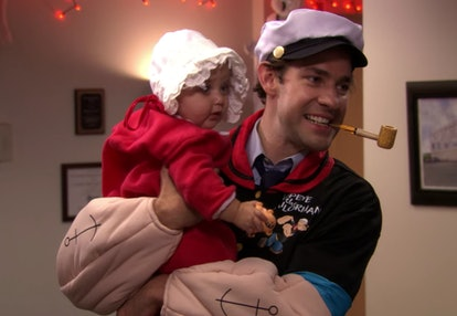 Jim as Popeye on The Office via a screenshot