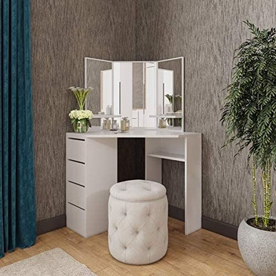 Roomsmart Victory Corner Vanity Table