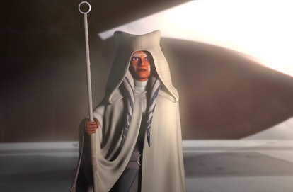 Ahsoka Tano in the final moments of 'Star Wars Rebels,' via screenshot.