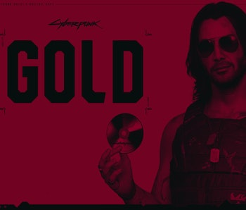cyberpunk 2077 gone gold keanu reeves