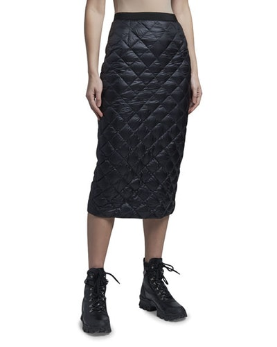 Down Quilted Pencil Skirt