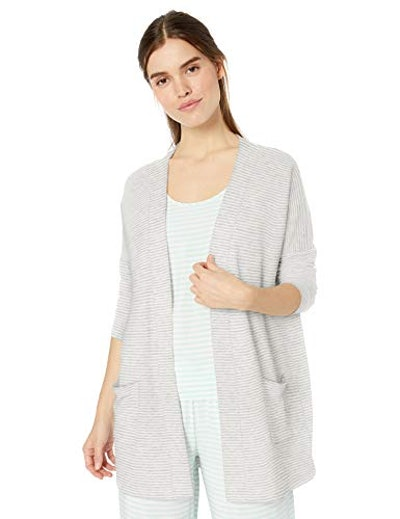 Amazon Essentials  Relaxed Fit Terry Open-Front Cardigan