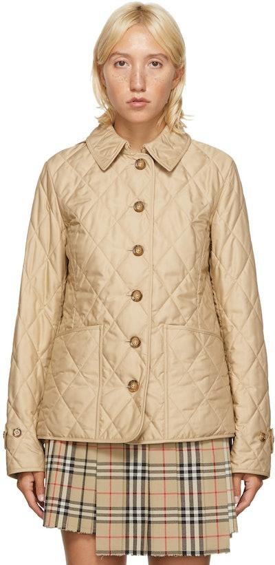 Beige Quilted Fernleigh Jacket